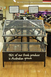 Lege supermarktplanken Royalty-vrije Stock Foto