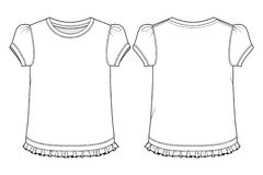 Lege T-shirt voor meisjes vector illustratie