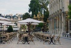 Lege terraskoffie royalty-vrije stock afbeeldingen