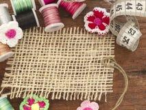 Lege textielnota Stock Fotografie