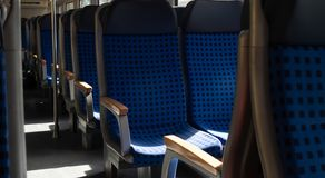 Lege treinpersonenauto royalty-vrije stock foto's