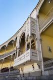 Lege tribune van Las Ventas Bullring Plaza DE Toros DE Las Ve stock foto