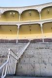 Lege tribune van Las Ventas Bullring Plaza DE Toros DE Las Ve stock afbeeldingen