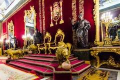 Lege Troon royalty-vrije stock foto's