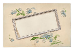 Lege Uitstekende BloemenPrentbriefkaar 1910's Royalty-vrije Stock Afbeeldingen