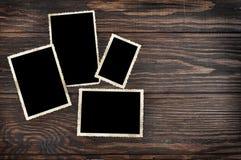 Lege uitstekende fotokaders Stock Foto's