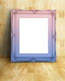 Lege Uitstekende roze en blauwe het beeldfra van de gradiënt Victoriaanse stijl Royalty-vrije Stock Fotografie