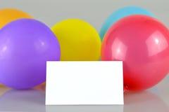 Lege verjaardagskaart Stock Foto
