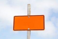Lege verkeersteken Stock Afbeelding