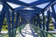 Lege voetgang Metaalstructuur Royalty-vrije Stock Foto's