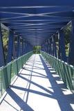 Lege voetgang Metaalstructuur Stock Afbeeldingen