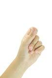 Lege vrouwelijke open die hand op wit wordt geïsoleerd Royalty-vrije Stock Foto's