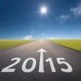 Lege weg bij idyllische dag tot 2015 Royalty-vrije Stock Afbeelding