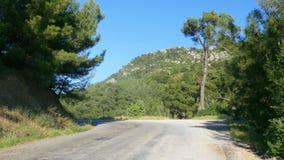 lege weg, hoge berg, natuurlijke contryside, datca, Turkije stock footage