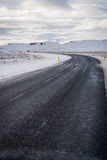 Lege Weg in IJsland Royalty-vrije Stock Afbeelding