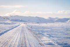 Lege Weg in IJsland Royalty-vrije Stock Foto's