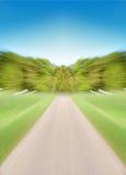 Lege weg met motieonduidelijk beeld Stock Foto's
