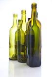Lege wijnflessen Royalty-vrije Stock Foto