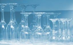 Lege wijnglazen Royalty-vrije Stock Foto
