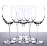 Lege wijnglazen Royalty-vrije Stock Afbeelding