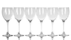 Lege wijnglazen Royalty-vrije Stock Fotografie