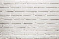 Lege witte bakstenen muur Royalty-vrije Stock Afbeelding