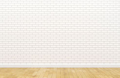 Lege witte bakstenen muur stock fotografie