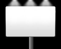 Lege witte banner Stock Foto