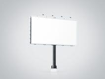 Lege witte bannerspot omhoog op stadsaanplakbord, Stock Foto's