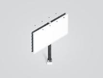Lege witte bannerspot omhoog op stadsaanplakbord, isometrische mening Stock Foto's