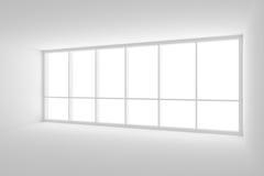 Lege witte bedrijfsbureauruimte met groot venster stock illustratie
