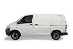 Lege witte bestelwagen Stock Foto