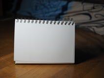 Lege witte boekachtergrond Royalty-vrije Stock Afbeelding