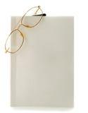 Lege witte boekbril Stock Afbeelding