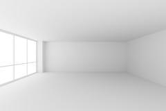 Lege witte bureauruimte met grote vensters vector illustratie