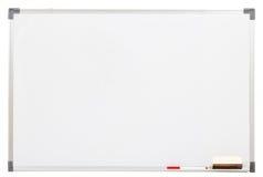 Lege witte geïsoleerdee raad stock afbeeldingen
