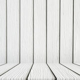 Lege witte houten vloerachtergrond Royalty-vrije Stock Fotografie