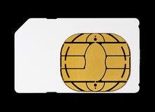 Lege Witte Kaart Sim voor Mobiele Cellphone Stock Fotografie