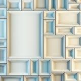 Lege witte kaders Stock Afbeeldingen