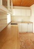 Lege witte keuken stock foto's
