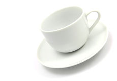 Lege witte koffiekop royalty-vrije stock fotografie
