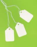 Lege Witte Markeringen op Groene Achtergrond Royalty-vrije Stock Foto's
