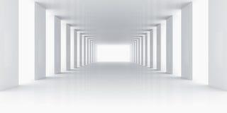 Lege witte ruimte Stock Afbeeldingen