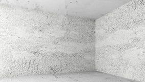 Lege witte ruimte met concrete muren Stock Foto