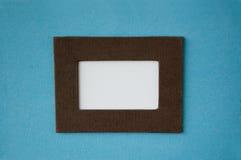 Lege witte ruimte met kleurenframe Royalty-vrije Stock Foto