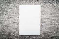 Lege witte spot op boek Stock Afbeeldingen