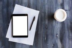 Lege witte tablet Royalty-vrije Stock Afbeelding