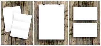Lege witte vouwende document vlieger stock afbeeldingen