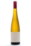 Lege witte wijnfles Stock Foto
