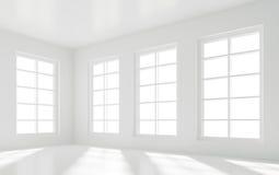 Lege Witte Zaal stock illustratie